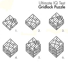 gridlock cube wooden puzzles solution 3d brain teasers jigsaw puzzles solving