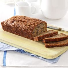 Banana-Zucchini Bread Recipe from Taste of Home -- shared by Eva Mae Hebert of Lafayette, Louisiana