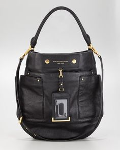 Preppy Leather Hobo Bag by MARC by Marc Jacobs at Neiman Marcus.