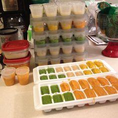 Home-made baby food extravaganza!  Peas, sweet potatoes, squash, pears, apples, nectarines!  Yum. Love wholesomebabyfood.momtastic.com