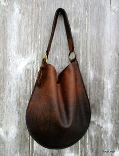 Rustic Leather Distressed Bison Leather Bag with Equestrian Shoulder Strap by Stacy Leigh via stacyleigh. Click on the image to see more!