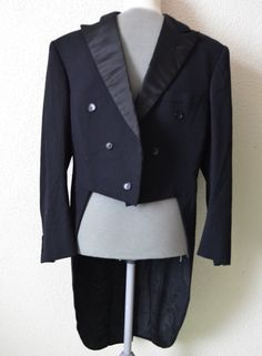 Black Tail Coat Tailcoat Mens 60s tux by NordicRetroStyle on Etsy