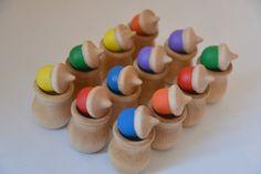 Rainbow Acorns Memory Matching Color Matching par howwelearnathome