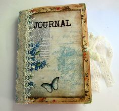 Back to nature vintage style journal by TuiresCraftsThings on Etsy