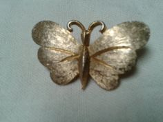 MAMSELLE Gold Tone Etched Butterfly with by GrammiesCupboard, $12.00