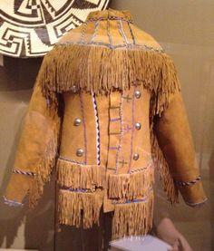 Apache beaded hide scout jacket