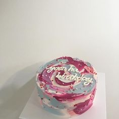best cake ever Pretty Birthday Cakes, Pretty Cakes, Cake Birthday, Cute Desserts, Just Cakes, Love Cake, Sweet Cakes, Let Them Eat Cake, Cake Designs