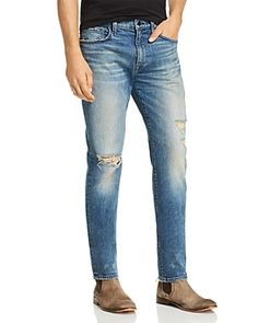 Joe's Jeans Asher Slim Fit Jeans in Flatbush Distressed Men - Bloomingdale's Top Gifts For Men, Tight Jeans Men, Distressed Leather, Joes Jeans, Slim, Mens Fashion, Fitness, Pants, Clothes