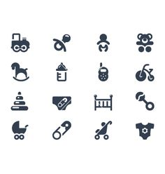 Baby icons vector 1741528 - by popcic on VectorStock®
