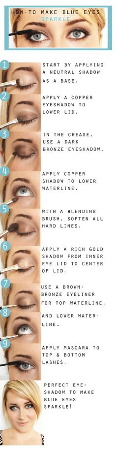 How to do Subtle Smokey Eyes | Blue Eyes Makeup by Makeup Tutorials at http://www.makeuptutorials.com/makeup-tutorial-12-makeup-for-blue-eyes