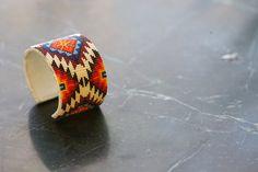 Native American Inspired Individually Handmade Beaded Bracelet