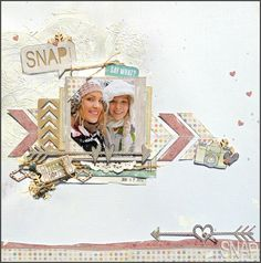 Great layout by Tracee on her blog Stresstickled!