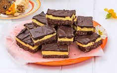 Chocolate Weet-Bix custard slice