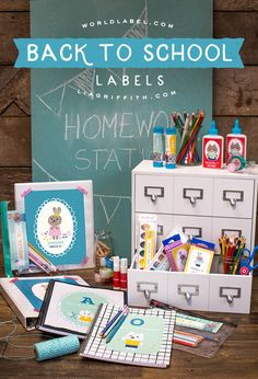 Back To School Printable Labels from MichaelsMakers Lia Griffith