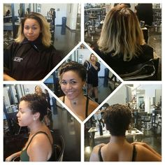 My first women's cut on a guest. #thebigchop