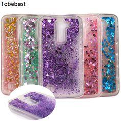 Liquid Heart Star Drift Sand Glitter Dynamic Soft TPU Phone Case sFor LG K10 K 10 LTE K420N K430 K430DS 5.3 Back Cover Phone Bag