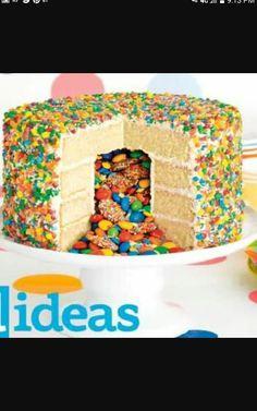 how to make a rainbow pinata cake