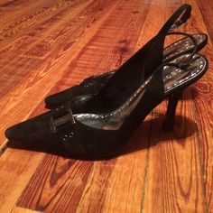BCBG Girls black pumps BCBG Girls black pumps with buckle size 9 BCBGirls Shoes Heels