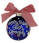 "Amazon.com: Christmas Ornament, 4"" Ole Miss ""Hotty Toddy"" Cheer Glass Keepsake Ornament with Gift Box. 4"" in Diameter * Glass * Accenting Bo..."