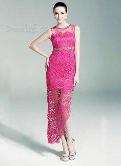 Dresswe.comサプライ品ファッションのエレガントなレースのビーズの列の夜/ウェディングドレス イブニングドレス2014