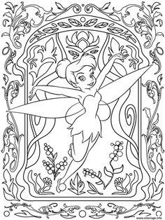 Coloriage Mandala Disney Tinker Bell Dessin A Imprimer
