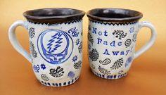GRATEFUL DEAD Mug  Not Fade Away  SteaL your Face by jodisunflower