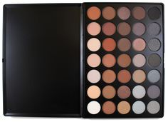 """Morphe Pro 35 Color Eyeshadow Makeup Palette - Koffee Palette 35K. The Morphe 35 color eyeshadow palette consists of """"koffee"""" colors perfect for someone who loves an array of coffee colors. The color eyeshadow palette will make your eyes sparkle and pop with 35 color eyeshadows with a wide range of natural or a subdued spectrum of """"coffee"""" colors. The eyeshadow pallet colors range from vibrant browns and many warm neutral tones that are perfect for that everyday natural application for an..."""