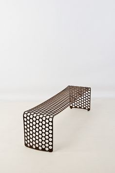 Xavier Lust; Steel 'Gunmetal' Bench, 2009.