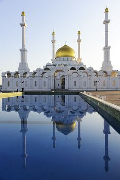 :::: http://pinterest.com christiancross ::: .Nur Astana Mosque, Astana, Kazakhstan Been there! 2011