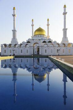 :::: http://pinterest.com christiancross ::: .Nur Astana Mosque, Astana, Kazakhstan Been there! 2011