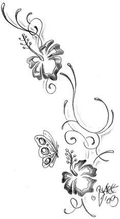 hibiscus flower tattoo designs for women | Climb_hibiscus_Tattoo_design_by_2Face_Tattoo.jpg