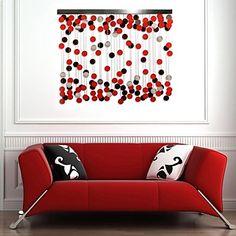 pared de metal decoración de la pared del arte e-HOME, la decoración de la pared círculo rojo – MXN $ 1,859.93