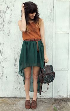 different colors,maybe.  but such a cute outfit. and bag!!