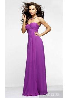 Elegant Purple Natural Baby doll Sweetheart Long Evening Dress Cheap zkdress26299