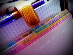 Renew Your Space: Creating Tabs for a Paper Planner