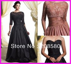 Elegant Ball Gown Floor Length Taffeta Mother of the Bride Dresses With Lace Jacket M1128 on AliExpress.com. 10% off $114.30