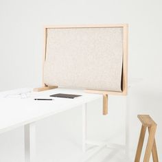 Belgian designer Pierre-Emmanuel Vandeputte has created a portable desk divider that allows users to actively isolate themselves from the noise around them.  Noise-reducing products are becoming increasingly popular as a response to open-plan offices, where its been reported that workers have trouble finding quiet space to concentrate. See more projects like this on dezeen.com/tag/acoustic-panels #design #furniture #office #acoustic