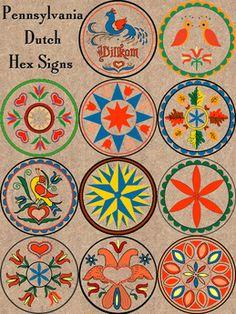 I love these. Pennsylvania Dutch/folk art I love*S~