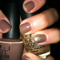 overthetaupe and upfront&personal OPI nail polish