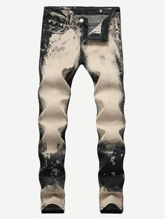 ba8ba7e483a6d Men - Apparel - Pants - Chino Men Bleach Wash Jeans fashion clothing  accessories shoes jewelry