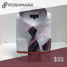 a78697d285 I just added this listing on Poshmark: Men's Dress Shirt White Pink Combo Bruno  Conte
