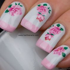 Nail WRAPS Nail Art Water Transfers Decals - Pink Lily YD1125 on Etsy, $3.19