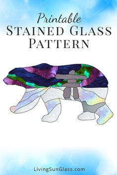 Polar Bear Silhouette with Northern Lights – Living Sun Glass – Stained Glass Patterns & Supplies Stained Glass Quilt, Stained Glass Light, Making Stained Glass, Stained Glass Designs, Stained Glass Projects, Stained Glass Patterns, Stained Glass Windows, Mosaic Patterns, Beading Patterns