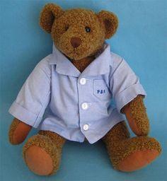 "Pottery Barn Kids Teddy Bear Plush wearing PJs - 12"" - Stuffed Soft Toy #PotteryBarnKids"