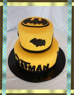 Batman Birthday Cake-I need to get someone to make this for u.