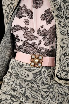 Oscar de la Renta:  Fall 2012 grey pink #couture #oscardelarenta #oscar #renta #fashion #luxe #luxury #delarenta #RTW