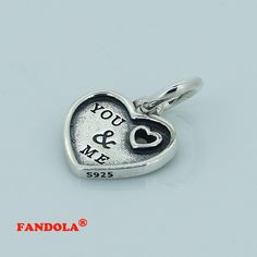 Fits Pandora Charms Bracelets Heart Beads 925 Sterling Silver Jewelry Free Shipping  #Affiliate