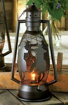 Rider's Metal Art Cowboy Lamp