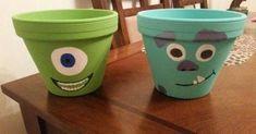 Monsters Inc. Themed Flower Pots Monsters Inc. Themed Flower Pots Monsters Inc. Themed Flower Pots Monsters Inc. Flower Pot Art, Clay Flower Pots, Flower Pot Crafts, Clay Pot Crafts, Clay Pots, Cactus Flower, Diy Clay, Deco Disney, Disney Diy