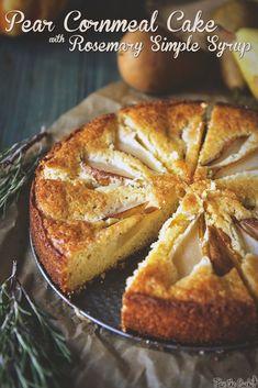 Pear Cornmeal Cake w